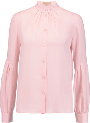 Michael Kors Collection Silk-georgette shirt $1,050 thestylecure.com