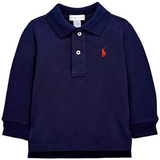 Ralph Lauren Baby Boys Classic Long Sleeve Polo Shirt - Navy
