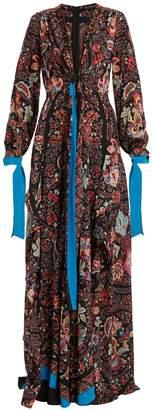 Scorpione silk crepe de Chine gown