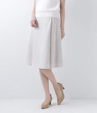 NEWYORKER women's 【店舗限定】レジメンタルストライプ アシンメトリーフレアスカート