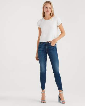 7 For All Mankind B(air) Denim Ankle Skinny with Spliced Hem in Echo