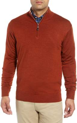 Peter Millar Crown Soft Regular Fit Wool Blend Quarter Zip Sweater