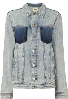 L'Agence Karina Oversized Denim Jacket
