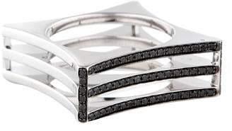 Melissa Kaye 18K Pavé Diamond Square Cocktail Ring