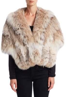 Zandra Rhodes Lynx Fur& Silk Stole
