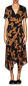 A.L.C. Women's Cora Floral Silk Wrap Dress - Black