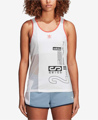 adidas Active Icons Mesh-Blocked Tank Top