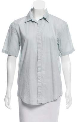 Burberry Short Sleeve Checker Print Top