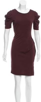 Alberta Ferretti Short Sleeve Sheath Dress