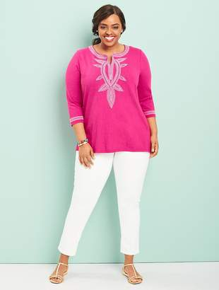 Talbots Womans Exclusive Tandoor Embroidered Tunic