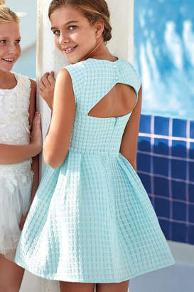 Mayoral Turquoise Basket-Weave Dress