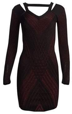 Roberto Cavalli Lurex Mini Dress