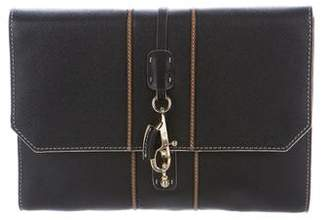 Fay Textured Leather Clutch