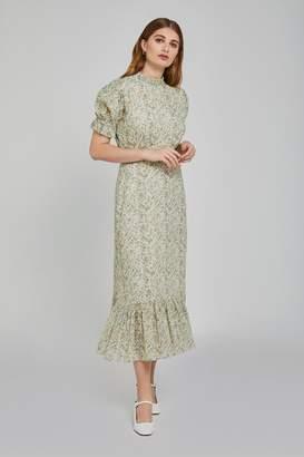 Ghost Womens London Green Solene Hippie Flower Print Cotton Dress - Green