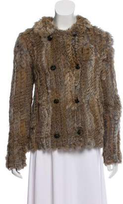 Marc by Marc Jacobs Double-Breasted Fur Jacket