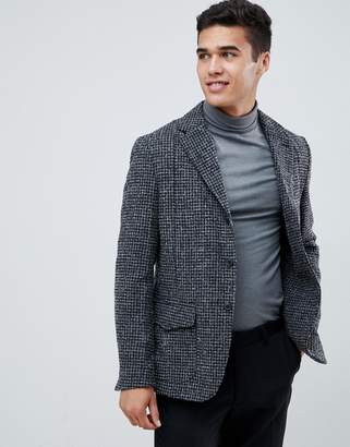 Selected slim fit blazer with flap pockets