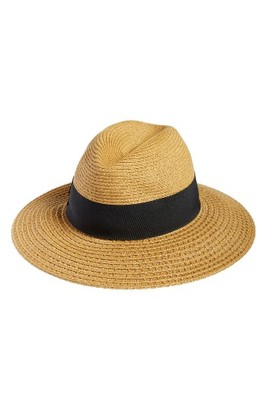 Women's Nordstrom Wide Brim Straw Panama Hat - Brown $38 thestylecure.com