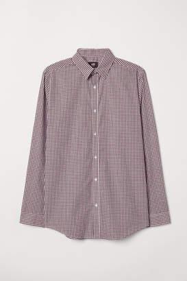 H&M Easy-iron Shirt Slim fit - Purple
