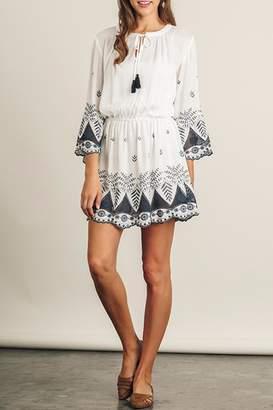 Umgee USA Off-White Embroidered Dress
