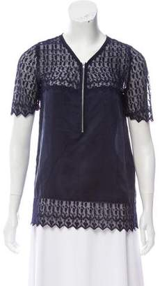 The Kooples Lace Silk Top
