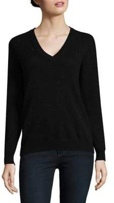 Lord & Taylor Petite Cashmere V-Neck Sweater