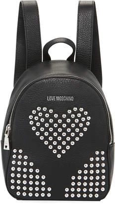 Love Moschino Borsa Studded Heart Backpack Bag