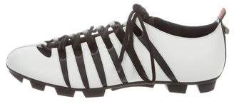 Gucci Leather Web-Trimmed Cleats w/ Tags