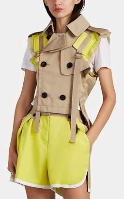 Sacai Women's Twill Trench-Style Vest - Yellow
