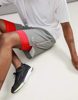 Puma Power Run 2-In-1 7 Inch Shorts In Gray 51626502