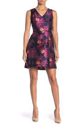 Julia Jordan V-Neck Floral Print Dress