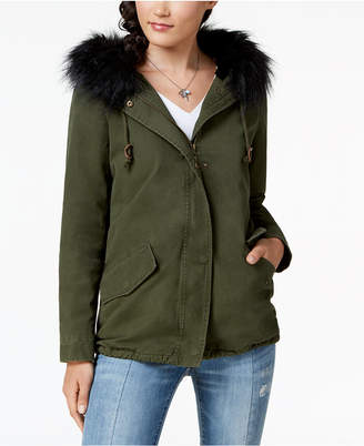 Joujou Jou Jou Juniors' Faux-Fur-Trim Hooded Anorak