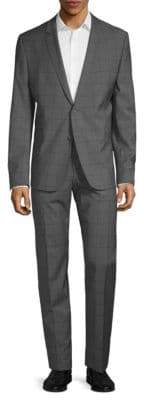 Strellson Vince Checkered Wool Suit