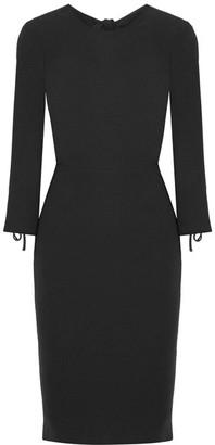 Max Mara - Open-back Crepe Dress - Black $925 thestylecure.com
