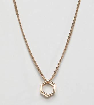 Glamorous hexagon shape pendant necklace
