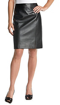 Chaus Faux Leather Skirt