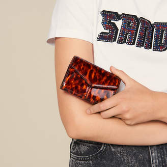 Sandro Printed Patent Leather Wallet