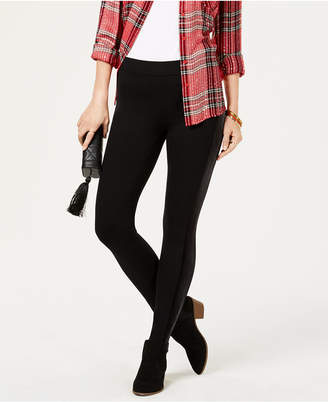 Style&Co. Style & Co Petite Velour-Trim Leggings