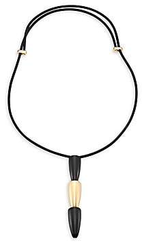 Vhernier Women's Calla 18K Rose Gold & Ebony Tiered Pendant Necklace