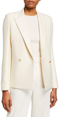 The Row Lione Wool-Silk Blazer Jacket
