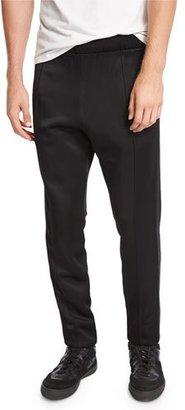 Burberry Slim-Fit Jersey Track Pants, Black $450 thestylecure.com