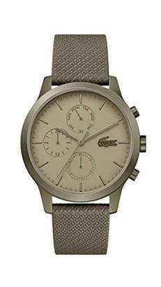 Lacoste IP Quartz Watch with Leather Strap