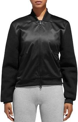 adidas ID Satin & Sherpa Fleece Bomber Jacket