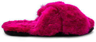 ARIANA BOHLING Criss Cross Fur Slipper