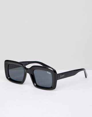 Quay Going Solo Square Sunglasses In Black