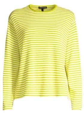 Eileen Fisher Striped Merino Wool Sweater