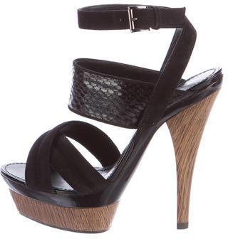 Barbara BuiBarbara Bui Snakeskin Platform Sandals