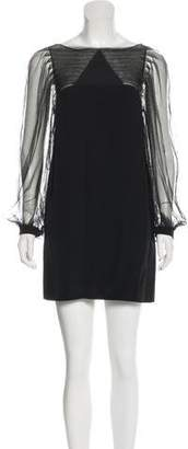 3.1 Phillip Lim Mesh-Accented Silk Dress