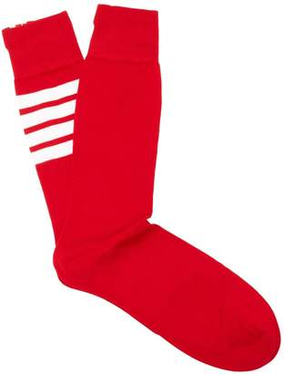 Thom Browne Striped cotton socks