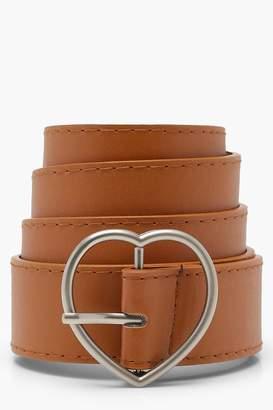 boohoo Ava Heart Buckle Boyfriend Belt