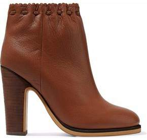 See by Chloe Jane Textured-leather Ankle Boots